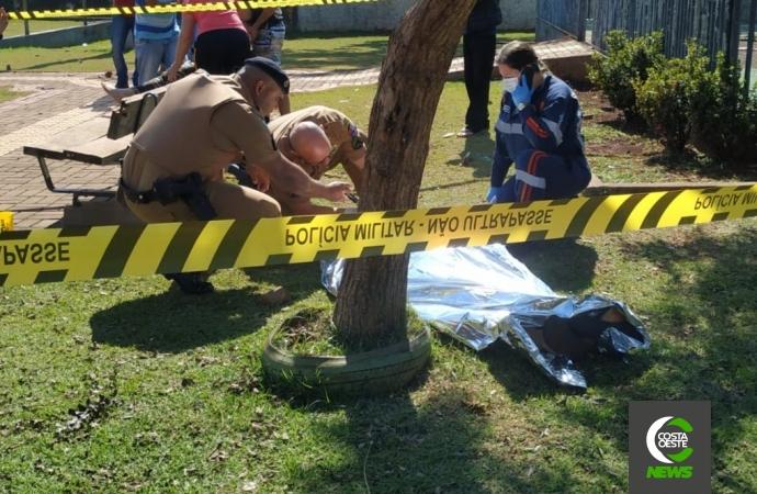 Rapaz é morto a tiros no bairro Parque Verde em Santa Helena