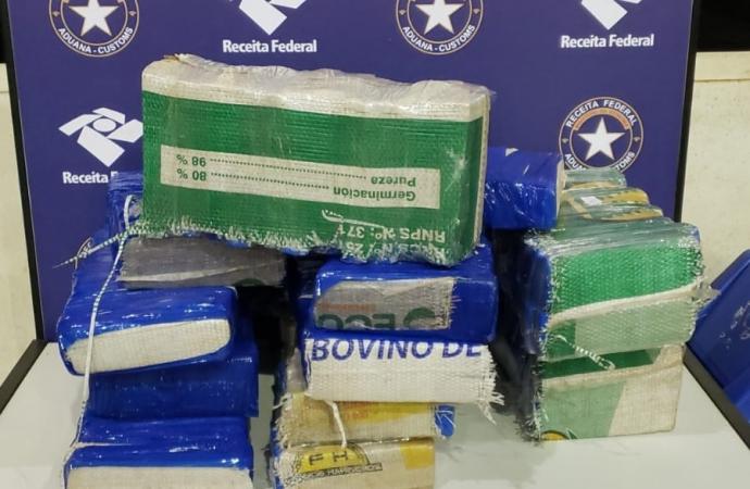 Receita Federal e BPFron apreendem quase 100 kg de maconha na Ponte Internacional da Amizade