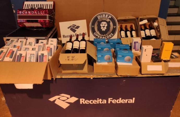 RF retêm em torno de R$60 mil em mercadorias presentes em remessas postais irregulares em Matelândia