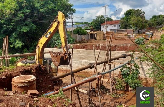 Retomados os trabalhos da construção de ponte em São Miguel do Iguaçu