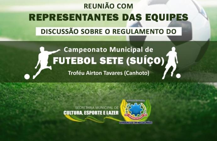 Reunião nesta sexta-feira (24) vai discutir o regulamento do 1º Campeonato Municipal de Futebol Sete