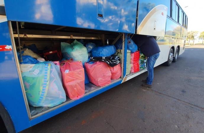 Receita Federal apreende ônibus carregado de mercadorias estrangeiras em Céu Azul