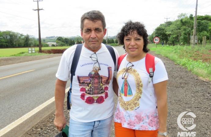 Romeiros começam peregrinação rumo à Itaipulândia e polícia reforça segurança