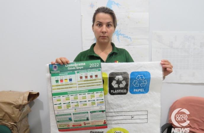 Sacos de ráfia para depósito de material reciclável podem ser retirados nas subprefeituras de Santa Helena