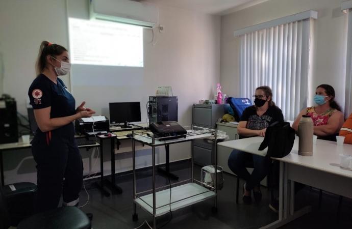 SAMU de Missal realiza capacitação interna de Urgência e Emergência na Unidade do Portão Ocoí