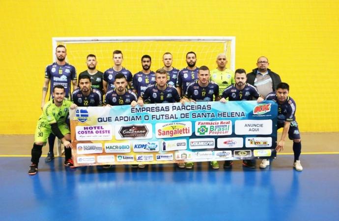 Santa Helena vence o Arapongas e estreia com o pé direito na terceira fase da Taça Bronze de Futsal