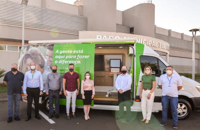 Santa Terezinha de Itaipu recebe a doação de respirador da Cooperativa Sicredi Vanguarda