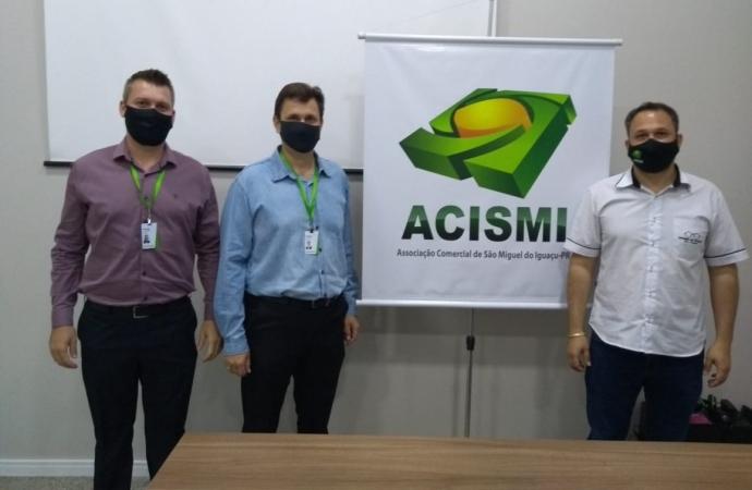São Miguel do Iguaçu: ACISMI firma parceria com o SICREDI para o ano de 2021