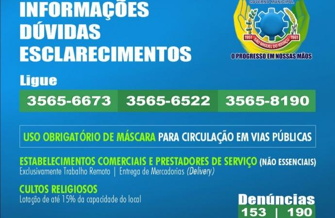 São Miguel do Iguaçu: Decreto acrescenta medidas restritivas para o combate à Covid-19