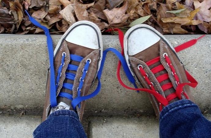 Sapatos trocados