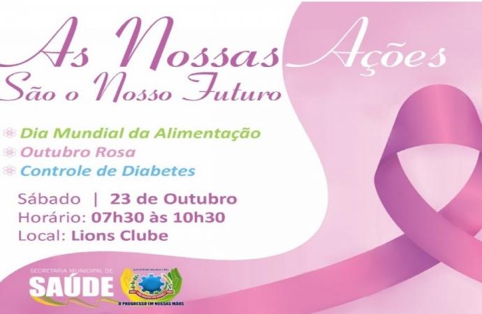 Saúde e Lions Club realizam dia D em alusão ao Outubro Rosa em SMI