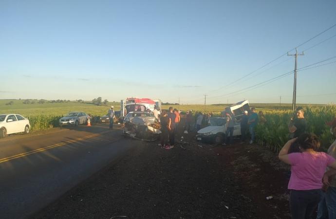 Seis pessoas ficam feridas em grave acidente na PR-488 em Vera Cruz do Oeste