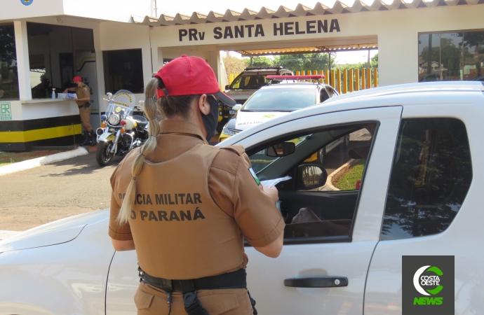 Sem acidentes nas estradas, PRv de Santa Helena divulga balanço da
