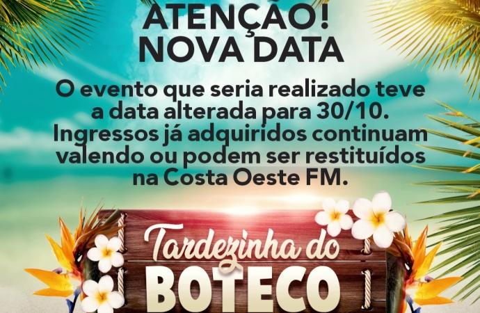 Tardezinha do Boteco é transferida para 30 de outubro em virtude do novo Decreto Estadual
