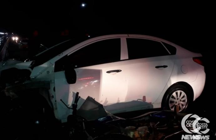 Três pessoas ficam feridas em acidente na PR 317, em Santa Helena