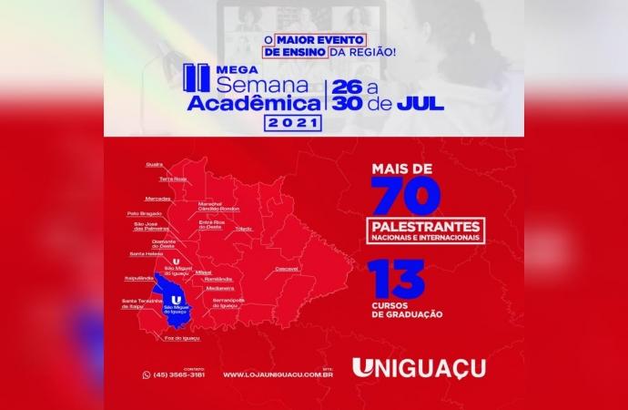UNIGUAÇU informa: ainda dá tempo de garantir sua vaga no maior evento de ensino da região