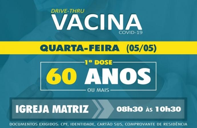Vacinação de idosos de 60 anos ou mais em São Miguel do Iguaçu