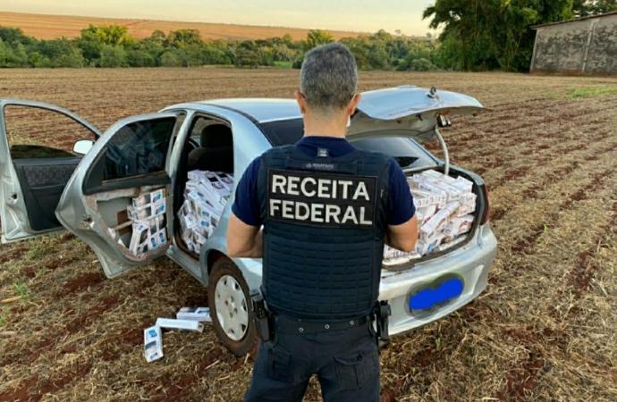 Veículo carregado com cigarros contrabandeados é apreendido em Santa Terezinha de Itaipu
