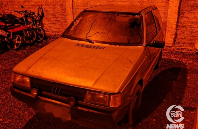 Veículo furtado é recuperado pela Polícia Militar de São Miguel do Iguaçu