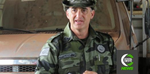 """""""Combater crimes e danos ambientais é o nosso dever"""", diz Tenente-coronel Puchetti em visita a região oeste"""