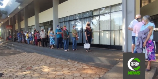 2ª dose da vacina contra Covid-19 tem grande procura em São Miguel do Iguaçu
