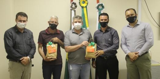 Membros da Diretoria da Cresol visitam Serranópolis do Iguaçu