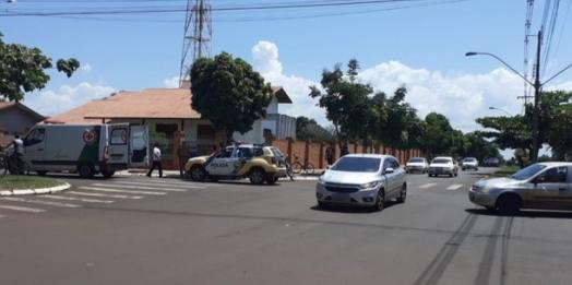 Acidente de trânsito no centro de Santa Helena deixa uma pessoa ferida