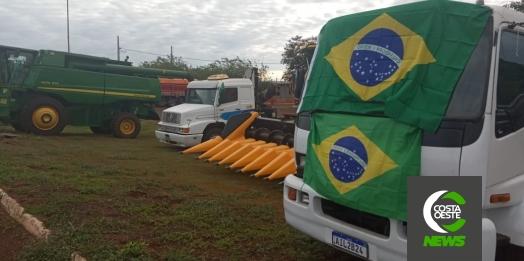 Agricultores de Guaíra se reúnem para ato pró-Bolsonaro