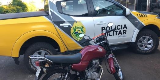 Após acompanhamento tático, PM detém motociclista em Missal