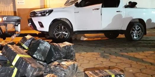 Após troca de tiros, PM apreende quase 2,5 toneladas de maconha em Foz