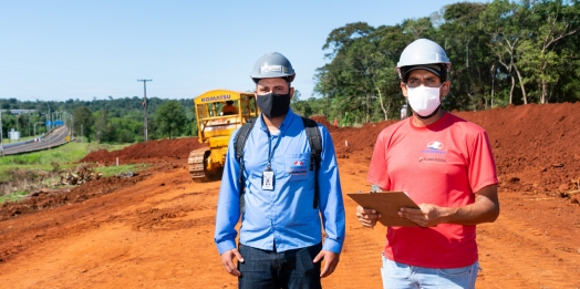 Avanço nas obras da Perimetral Leste, financiada por Itaipu, gera novos empregos