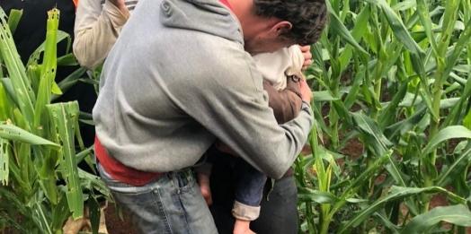 Bebê desaparecido no interior do Paraná é encontrado em milharal