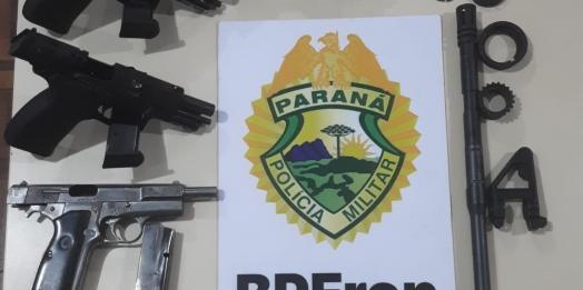BPFRON apreende armas de fogo em Medianeira
