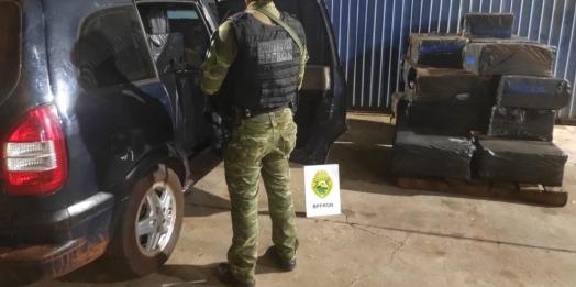 BPFRON apreende cigarros contrabandeados durante Operação Hórus em Itaipulândia