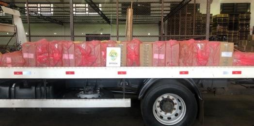 BPFron apreende cigarros contrabandeados em Entre Rios do Oeste