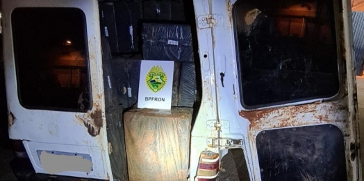 BPFron apreende cigarros contrabandeados em residência na cidade de Itaipulândia