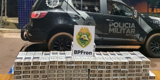 BPFRON apreende cigarros contrabandeados em São Miguel do Iguaçu