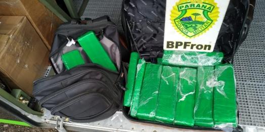 BPFRON apreende droga durante abordagem a ônibus em São Miguel do Iguaçu