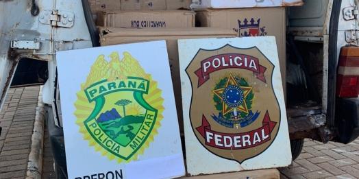 BPFRON e PF apreendem veículo carregado com cigarros em Pato Bragado