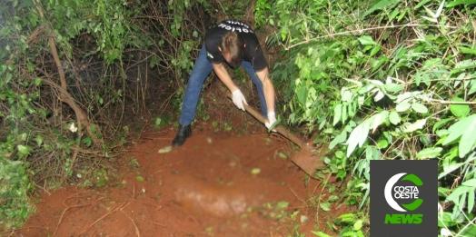 Cadáver é encontrado enterrado no interior de Santa Helena