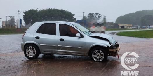 Colisão envolvendo caminhão e carro é registrada em São Miguel do Iguaçu