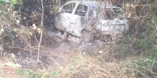 Corpo carbonizado é encontrado dentro de carro, em Serranópolis do Iguaçu
