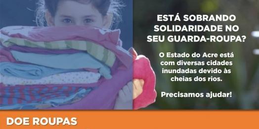 Corpo de Bombeiros e Defesa Civil do Paraná fazem campanha solidária para as vítimas das enchentes do Acre
