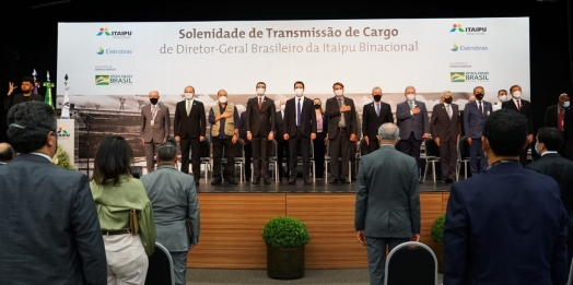 Emocionado, general Silva e Luna se despede da Itaipu Binacional