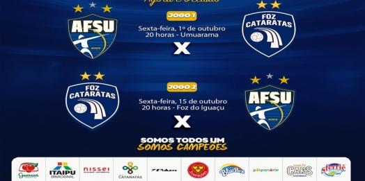 Foz Cataratas Futsal faz seu primeiro jogo pelas quartas de final nesta sexta
