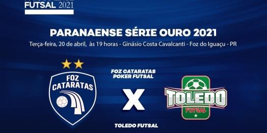 Foz Cataratas Poker Futsal joga contra o Toledo nesta terça