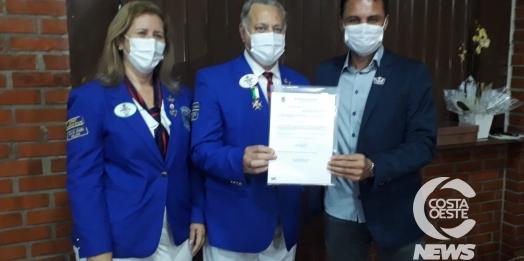 Governador do Lions faz visita oficial aos Clubes de Medianeira