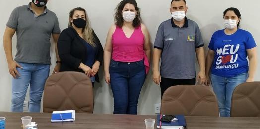 Governo de São Miguel e Uniguaçu firmam parceria para dar apoio aos romeiros no dia de Nossa Senhora Aparecida