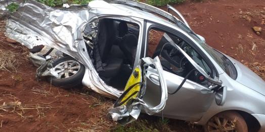 Grave acidente seguido de roubo é registrado na PR 495 entre Missal e Medianeira