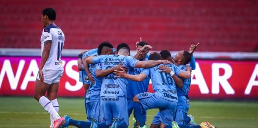 Ouça o gol: Grêmio vence a LDU e larga em vantagem nas oitavas da Sul-Americana